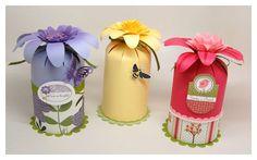 Como fazer embalagens para presente de scrapbook e reciclagem de rolos de papel toalha ~ VillarteDesign Artesanato