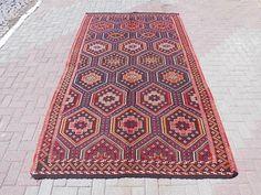 Goat Hair Wool Kilim Rug floor rug turkish rug kelim rug