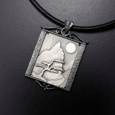 Hey, I found this really awesome Etsy listing at https://www.etsy.com/listing/459598396/the-moon-and-a-pine-tree-silver-pendant