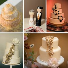 Golden wedding cake inspiration board