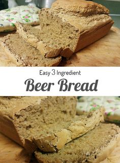 This beer bread recipe is SO easy and delicious, and it's only 3 ingredients! You can use your favorite beer, too! <3