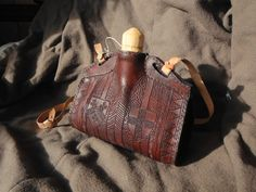 Leather costrel by LukasKubke