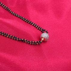 Mangalsutra with White stone ball