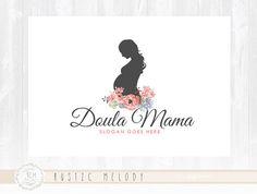 Doula Logo Design Birth Logo Floral Logo Watermark Watercolor Logo