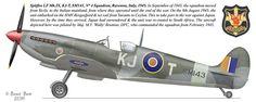 Spitfire LF Mk. IX,KJ-T,SM 143,№-4 Sguadron,Ravena,Italy 1945