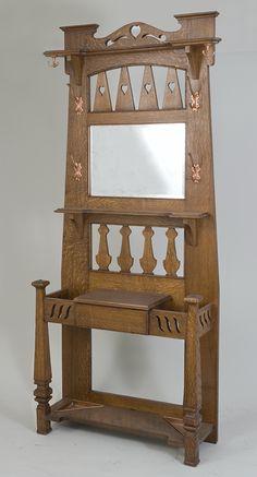 A Liberty of London Arts & Crafts oak hallstand c.1900