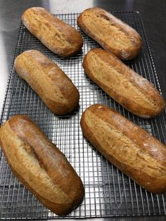 Healthy Sourdough Hoagie Rolls - A hit with the whole family! Sourdough Rolls, Sourdough Recipes, Bread Recipes, Hoagie Roll Recipe, Rolls Recipe, Croissants, Scones, Biscuits, Steak Rolls