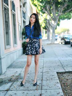 full skirt. that pattern!