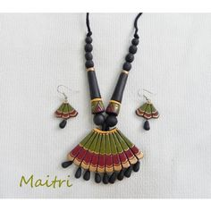 Terracotta Jewellery_Umbrella    maitri_crafts@yahoo.com    http://www.facebook.com/pages/Maitri/124757107652514?ref=hl