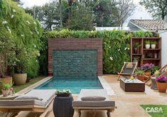 Jardim com piscina e área de estar super aconchegante – Casa Garden with pool and super cozy seating area – House