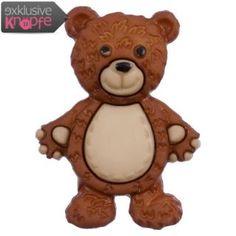 Kinderknopf - Teddybär in Braun Beige-Braun