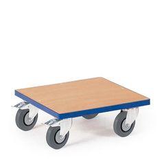 GTARDO.DE:  Kistenroller, Tragkraft 250 kg, Maße 500x500 mm, Ladefläche 500x500 mm, Vollgummi, Rad-Ø 125 mm 112,00 €