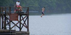 Lake jump in Virginia