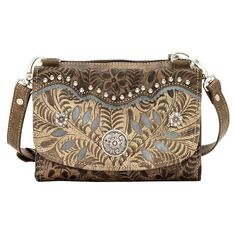 American West Woodland Bloom Small Bag Wallet Combo