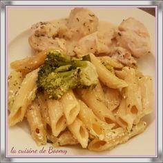 Pâtes aux poireaux et aux brocolis ww (Cookeo)