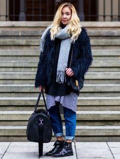 Winter Outfit von Jessi Quednau auf den Straßen von Berlin