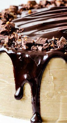 Salted Caramel Milk Chocolate Cake