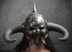 Frazetta Death Dealer steel fantasy helmet. $1,195.00, via Etsy.