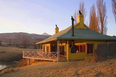 Royal Coachman - Clarens Accommodation. Built In Braai, Bed Next, Fly Fishing Tackle, Upstairs Loft, Outside Furniture, Free State, Loft Room, Open Fireplace
