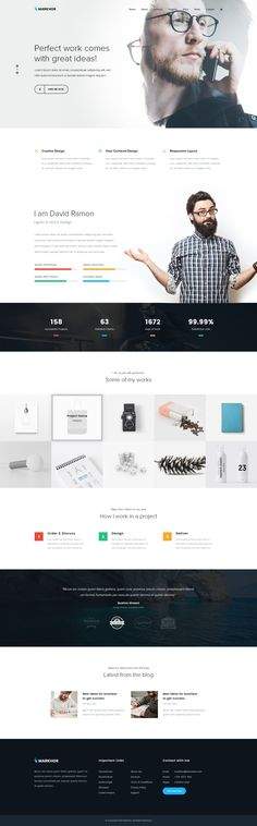 Markhor - Creative Multipurpose PSD Template on Behance