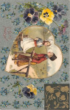 To My Sweetheart Couple in A Heart Valentines Day Antique Postcard V7496 | eBay