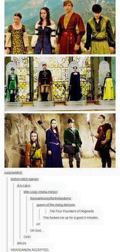Narnia meets Harry Potter.