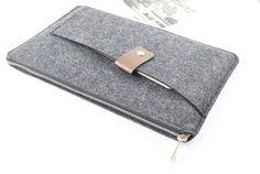 Zipper Felt Macbook sleeve, Macbook Air case, Macbook Pro sleeve, Macbook 11 13 15 Air Pro Sleeve, Macbook Pro Retina sleeve SJ524