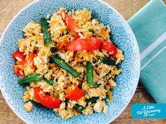 Low FODMAP: Easy Salmon Fried Rice | A Little Bit Yummy