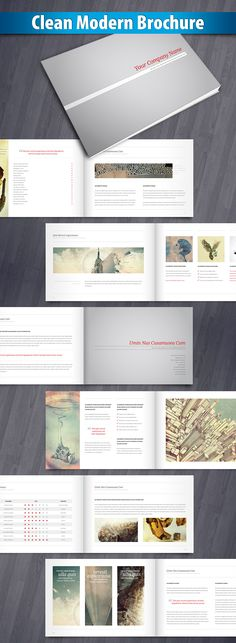 Clean Modern Brochure - Brochures on Creattica: Your source for design inspiration