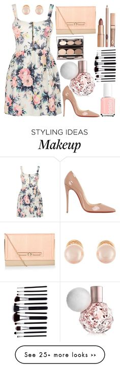 """Make me Blush"" by venus4thought on Polyvore featuring Cameo Rose, Kenneth Jay Lane, Christian Louboutin and Essie"
