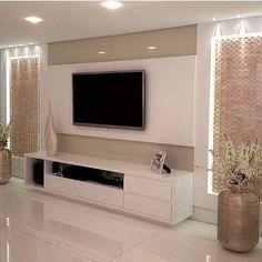 Trendy Modern Furniture Design Tv Walls Home Decor Ideas Tv Unit Decor, Tv Wall Decor, Tv Wall Design, House Design, Decor Interior Design, Room Interior, Home Living Room, Living Room Decor, Tv Unit Furniture