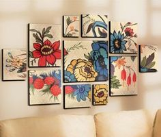 11-piece Floral Collage Set - Grandin Road - Other - 123amy