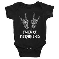 Future Metalhead, death metal, heavy metal baby, metalhead baby, Baby Onesie, Goth Baby Clothes, Goth Baby, Gothic Baby Clothes, Gothic Baby, Black Baby Clothes, Goth Mom, Gothic Mom, Rockabilly Mom, Alt Mom, Alternative Mom, Punk Mom, Punk Baby, Alternative Baby, Rock Baby, Rock and Roll Baby, Baby Romper, Black Bodysuit, Black Onesie, Clothing, Unisex Baby Clothes, Baby Shower Gift, New Baby Gift, Push Present, First Birthday Gift