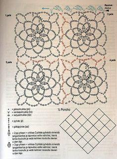 Achei ótima essa ideia.   Com um mesmo modelo de squares, você pode fazer quatro modelos diferentes.
