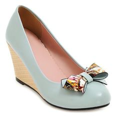 33.16$  Watch now - http://dii0p.justgood.pw/go.php?t=206399310 - Bowknot Wedge Shoes 33.16$