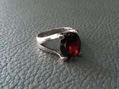 Items similar to 925 Sterling Silver Design RING GARNET # Gemstones jewelry Ring # Handmade Sterling Silver Ring January Birthstones. on Etsy