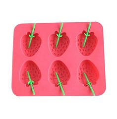 Creative Strawberry Ice Box Ice Molds DIY Ice Tray RED