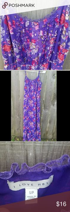 I Love H81 people floral maxi dress This dress has been worn but is in excellent condition. The bust is 18 inches across and the dress is 45 inches long. I love H81 Dresses Maxi