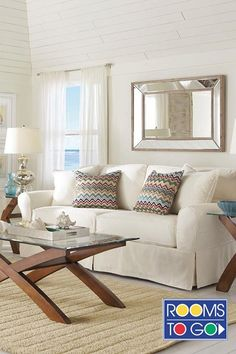 Whether your home is coastal or in the city, the Beachside sofa brings you the casual comfort of a resort hideaway. Washed natural denim slipcovers cover comfortable cushions and will wear over time like a favorite pair of jeans.