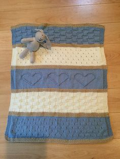 ♥ Knit Baby Blanket Pattern. This adorable baby blanket pattern is easy to knit with simple, basic stitches. It would be a wonderful gift