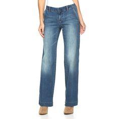 Women's Apt. 9® Modern Fit Wide-Leg Jeans, Size: