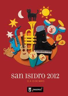 Cartel Oficial de las Fiestas de San Isidro 2012 (Madrid) - Diseño de Pep Carrió