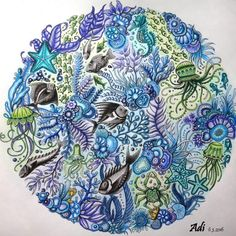 #lostocean #ztracenyocean #oceanoperdido #johannabasford #maped #art #drawing #stabilo #coloringbook #draw #coloring #pencil #color #colors #adultcoloring #creative #relax #colouring #colour #artist #arttherapy #myCreativeEscape