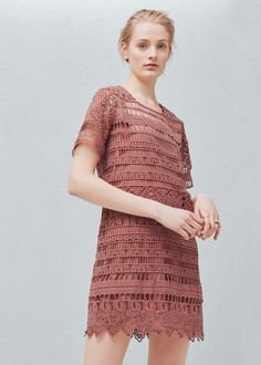 Embroidered dress - Dresses for Women | MANGO USA