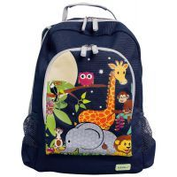Bobble Art Jungle Canvas Backpack www.mamadoo.com.au #mamadoo #bags #kidsbackpacks