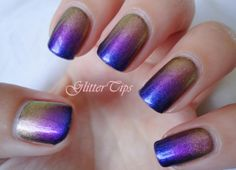 Glitter Tips: China Glaze Bohemian Gradient NOTD