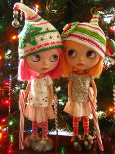 IMG_1271...Amor and Dove ..the two little candy cane thieves... | Lindy Dolldreams | Flickr