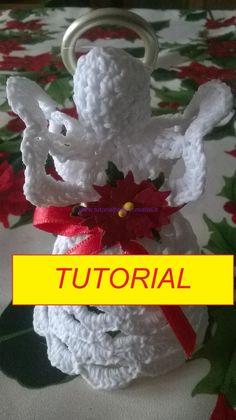 Chunky Crochet, Free Crochet, Crochet Dog Sweater, Crochet Angels, Angel Crafts, Christmas Crochet Patterns, Christmas Crafts, Christmas Ornaments, Angel Ornaments