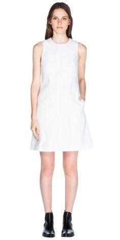 CUE - Cotton Linen A-Line Dress