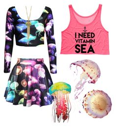 """Jelly fish"" by julybabe1 ❤ liked on Polyvore featuring Les Néréides"